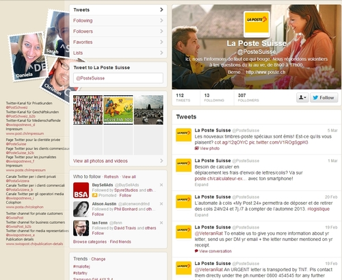 How do you use Twitter? The Case of BPost (Belgium), Swiss Post, Deutsche Post (Germany) and La Poste (France)