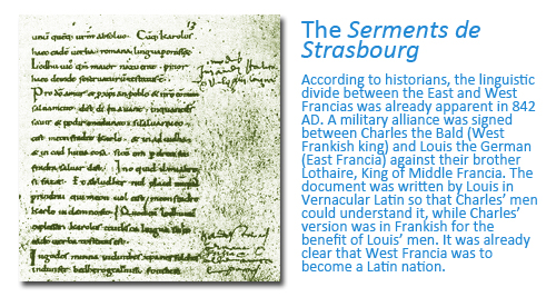 How Flanders came to be the Name of the Region Today: The Serments of Strasbourg